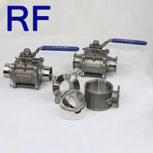 RF Perfect quality sanitary stainless steel clamped ball valve cavity fulled seat