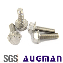 Fasteners stainless steel hexagon flange bolts for car or motor