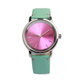 Hot selling japan quartz leather brands wrist watches men women