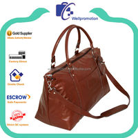 Wellpromotion high quality PU leather travel bag