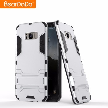 Best Selling tpu pc kickstand custom made phone case for samsung s8