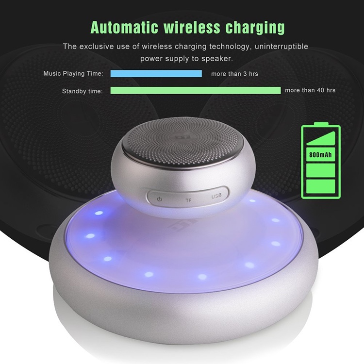 Original Factory Wireless Magnetic Levitation and Floating Blue-tooth Speaker With Automatic Wireless Charging Function