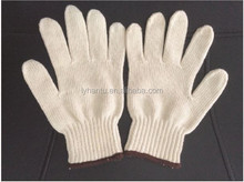 40g cotton knitted working gloves with regular cotton