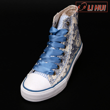 campus printed low price canvas custom fashion design luxury women shoes