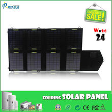24W Folable solar multiple laptop charger 24V/1A Output for PC