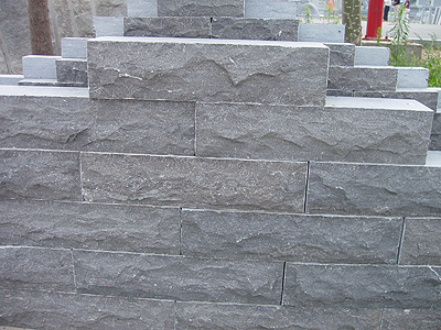 China Blue Limestone Wall,Mushroom Stone exterior Limestone for Wall Cladding Panel