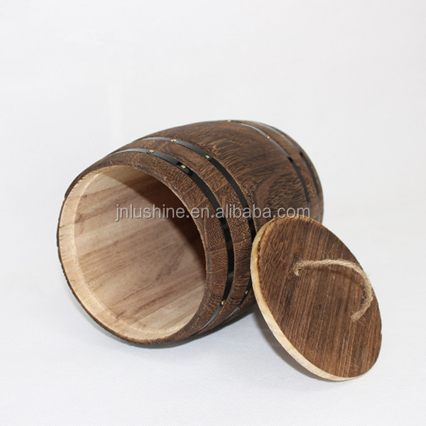 Customized Carbonized Black Paulownia Wood Coffee <strong>Barrel</strong>
