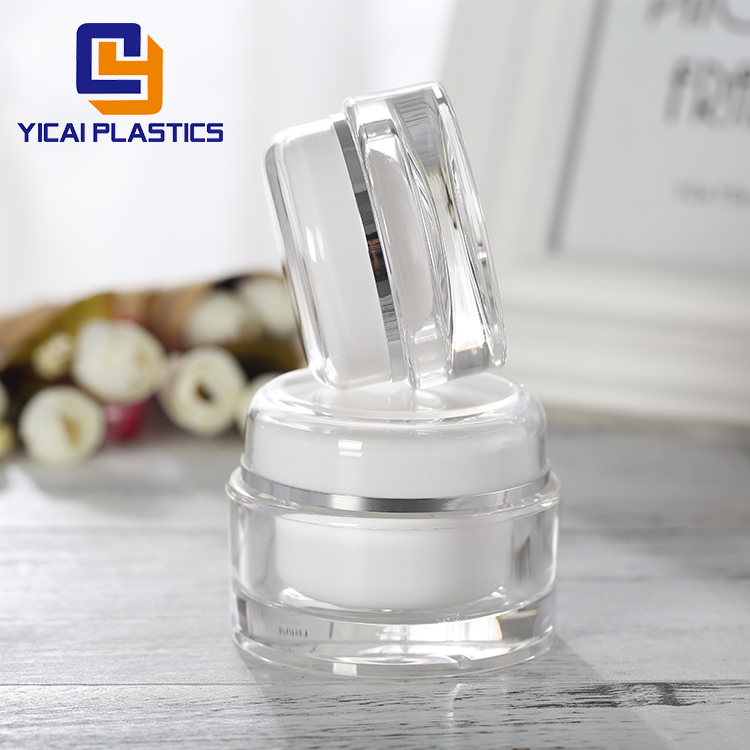 High quality custom size good quality cream jar plastic