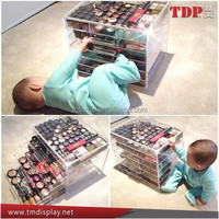 Acrylic Cosmetic Makeup Organizer With Five Drawers