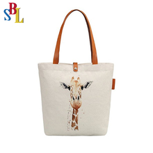 Printing Cotton Canvas Shopping Tote Bag Grocery Bag