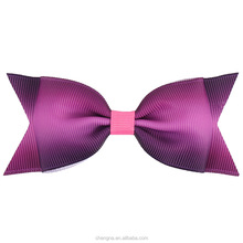New Fashion 4 Inch Multicolor Dovetail Hair Bow