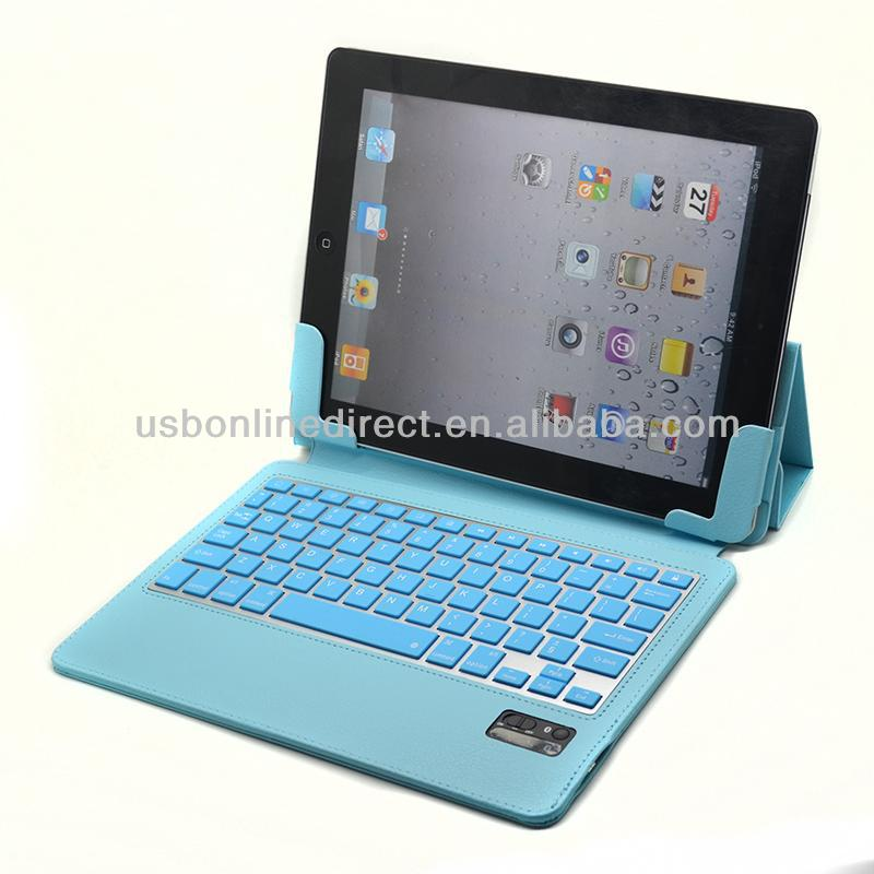Blue Color Leather Case Cover For Apple iPad Air 5th Gen Bluetooth Keyboard Wireless