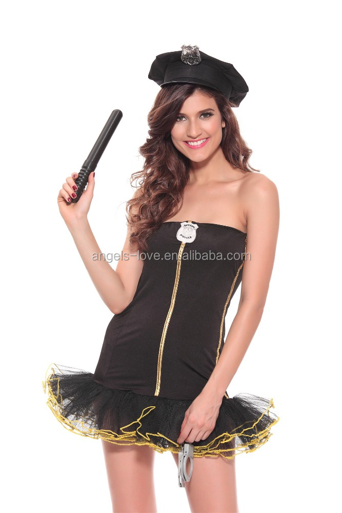 Factory price Fashion Sexy Hen Party Cop Police Girl Fancy Dress Costume