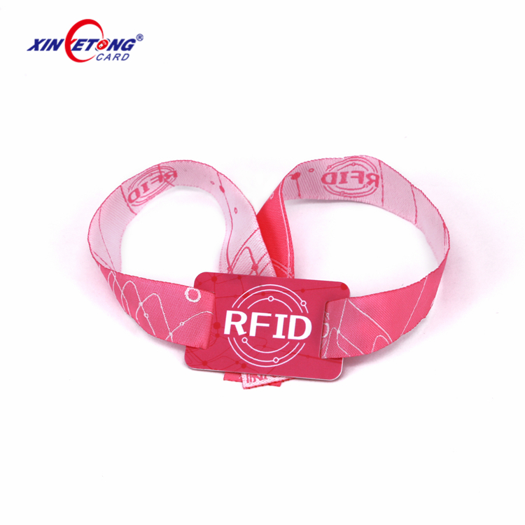 China factory one time used custom festival fabric woven wristband