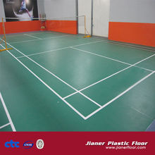 Jianer 2014 hot sell PVC Sports Court Flooring made in China various kinds PVC plastic flooring sheet for sports