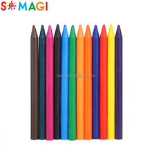 Free sample looking popular kid wax crayon packs custom stationery set crayon pen for kids for children drawing