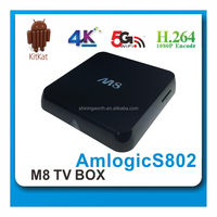 android mini pc m8 s802 quad core tv box android 4.4 tv box xbmc13.2 built-in wifi and bluetooth