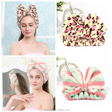 promotional flannel head band leopard print hairband for makeup