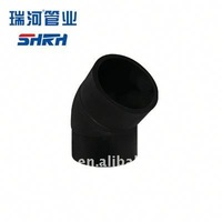 competitive China Supplier butt joint 45 degree elbow hdpe pipe fitting