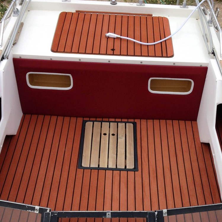 Melors Marine Supply Non-skid Sanded EVA Foam Faux Teak Sheet Composite Teak Decking For Boat Yacht
