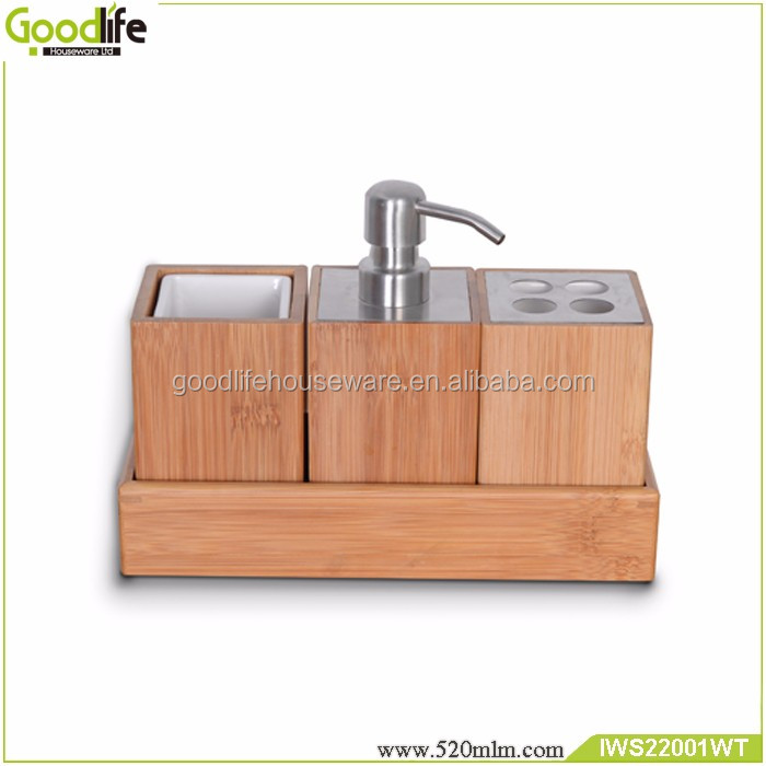 Goodlife high quality Bathroom bamboo and wood four-piece OEM/ODM