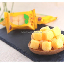 Mango Fruit Juice Soft Chewy Gummy Cube Candy