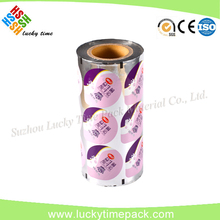 Japanese Ink Printed Plastic Film Lamination VMPET Cup Lid Roll