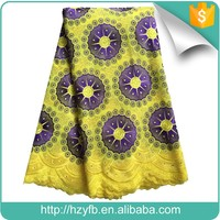 2017 african dry comfortable cotton fabric lucky flower swiss voile lace for dress