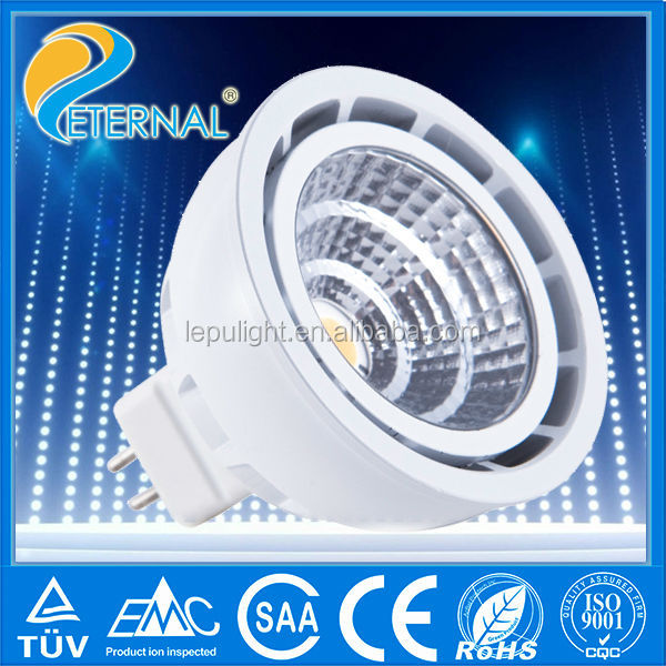 dimmable COB 2700k high lux CRI85 72degree led mr16 transformer 12V warm white