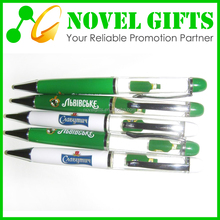 Beer Promotion Gifts Liquid Oil Metal Ballpoint Pen with Custom Floater