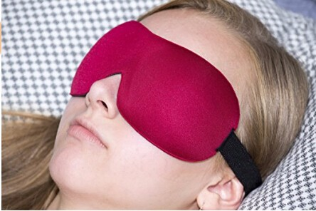 Amazon bestselling 3D sleep mask with ear plug
