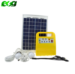 Hot sell to Swaziland home mobile charging 10W solar led light kits portable solar system