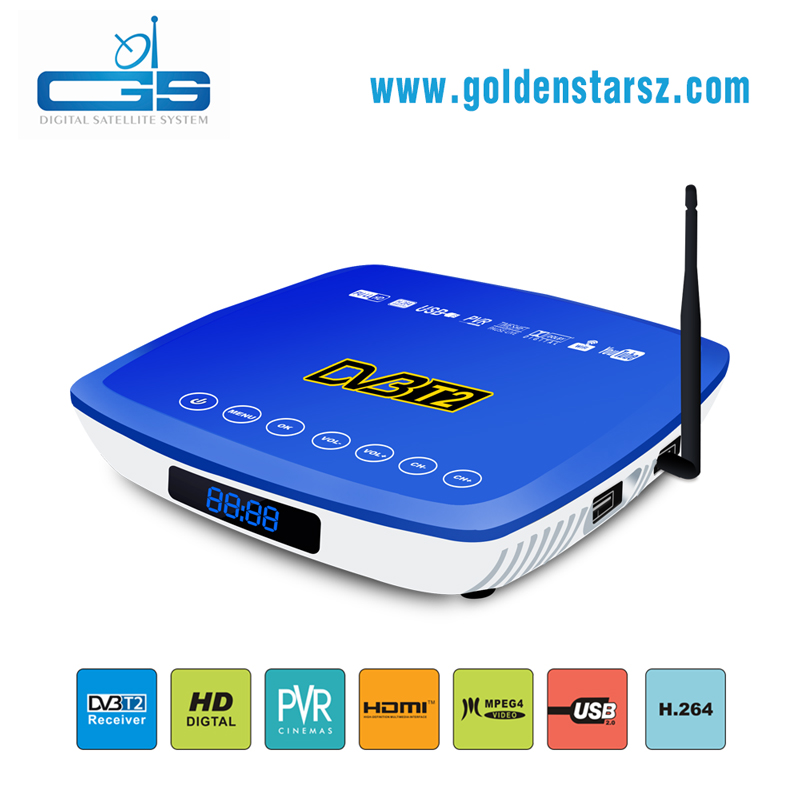 Personal Case hd 1080p yes FTA common interface dvb-t2 receiver set top box watch Youtube by USB wifi