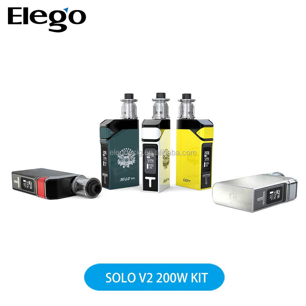 Elego Stock Offer Newest IJOY Solo V2 200W Kit with fast shipping and factory price