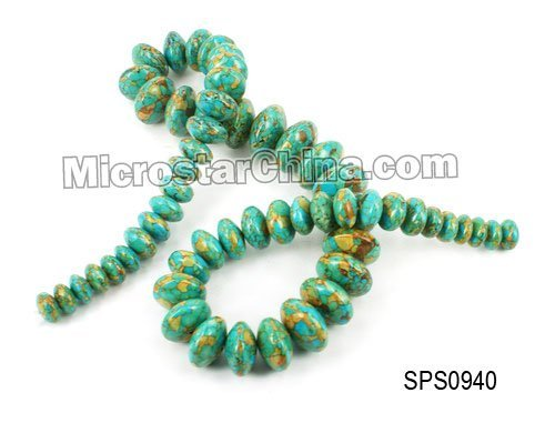 Hot sales colour dyed turquoise abacus 10-20mm thick:6-12mm about 37pcs per strand 50cm long approx:139grams/strand