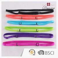 Strong Elasticity Colors Silicone Unisex Sports Rubber Adjustable Elastic Headbands