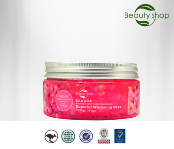 Sakura petal crystal whitening facial mask deep moisturizing facial mask