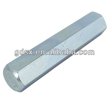 ISO9001:2008 passed China factory custom made hex shaft,galvanized steel hex shaft,hex shaft coupling