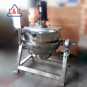 Stainless Steel Tilting electric boiling pan for hard sweet melting