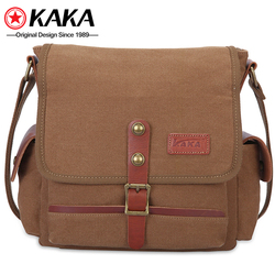vintage fabric cross clear sling chest single-shoulder mens canvas messenger shoulder bag