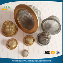 Stainless steel filter cone cap mesh in plastic rubber and stainless steel rims (free sample)