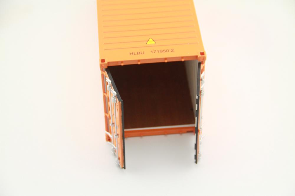 20ft 1:20 scale ABS container model with door behind can be open