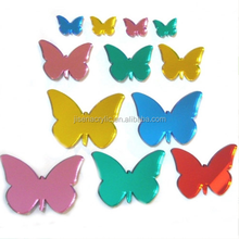 Wholesale Custom Colored Beautiful Butterfly Shaped Acrylic Wall Mirror Stickers
