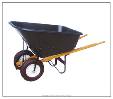 140L big plastic tray wheelbarrow for garden