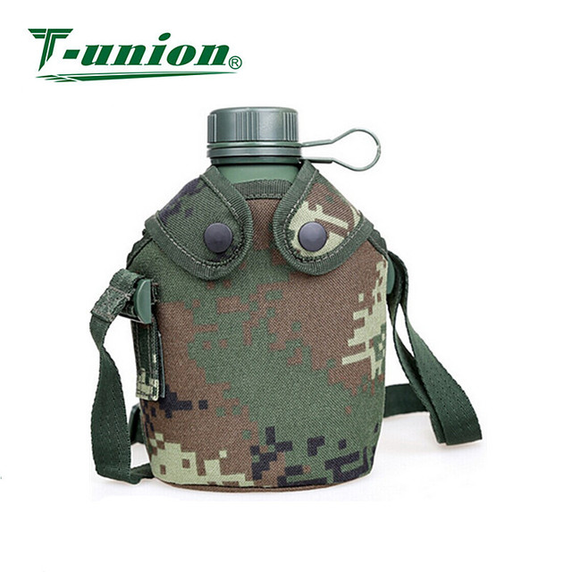 2017 Hot Sale 1L Water Bottle Sports Army Aluminum Canteen
