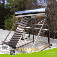 Stainless steel heat pipe solar + electric geyser /Pressurized solar water heater