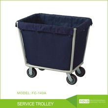 Hospital Linen Trolley Cleaning Cart , Hotel Guest Room Steel paint wagon Service Trolley , Service Cart