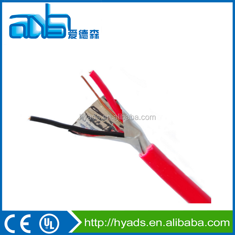Fire Alarm Cable 14 AWG Solid Copper Conductors Shielded Red