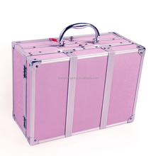 Manufacturers Professional Folding cosmetic Box Aluminum beauty organizer,cosmetic trunk,sunrise beauty case