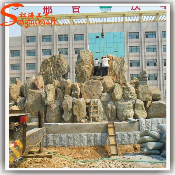 Large Outdoor LED chinese modern garden water stone fountain